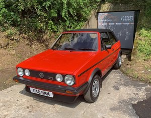 1986 Volkswagen MK1 Golf GTi Cabriolet For Sale