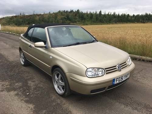 2001 Volkswagen Golf Cabriolet at Morris Leslie Auction 17th Aug SOLD by Auction (picture 1 of 6)