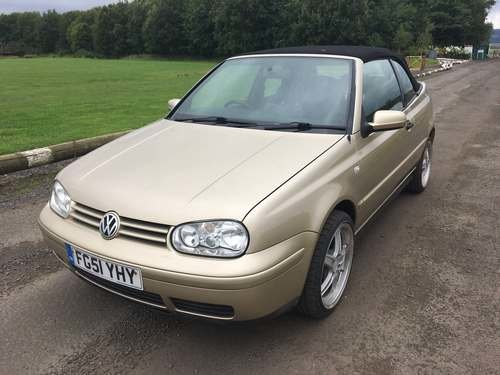 2001 Volkswagen Golf Cabriolet at Morris Leslie Auction 17th Aug SOLD by Auction (picture 2 of 6)