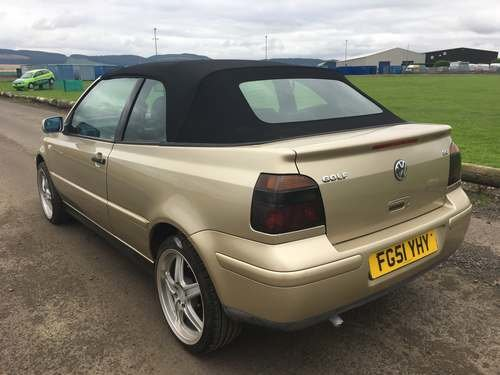 2001 Volkswagen Golf Cabriolet at Morris Leslie Auction 17th Aug SOLD by Auction (picture 3 of 6)