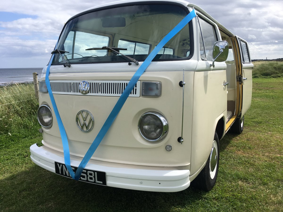 1973 VW Campervan wedding car For Sale (picture 1 of 6)