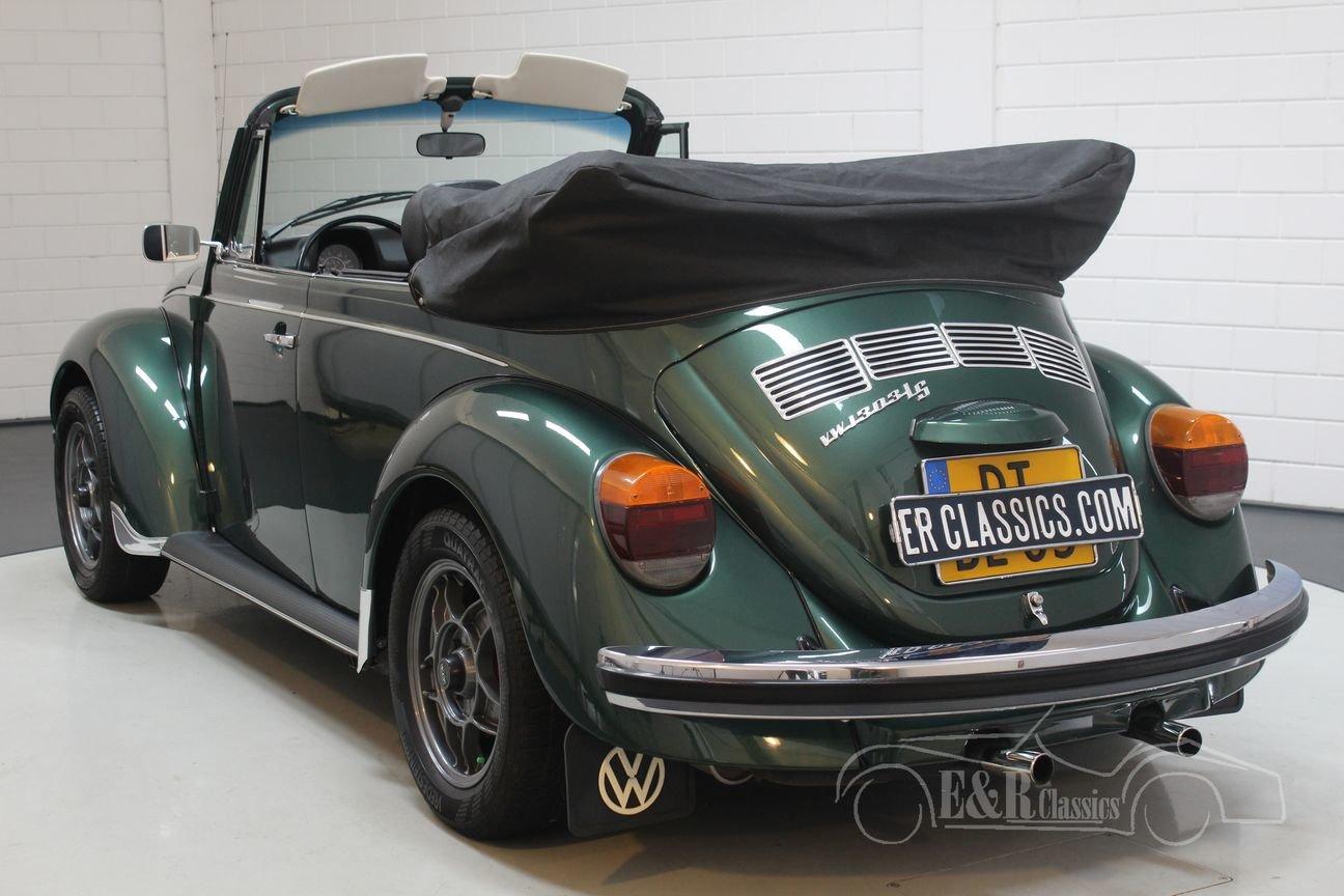 Volkswagen Beetle 1303 LS Convertible 1975 Green Metallic For Sale (picture 5 of 6)