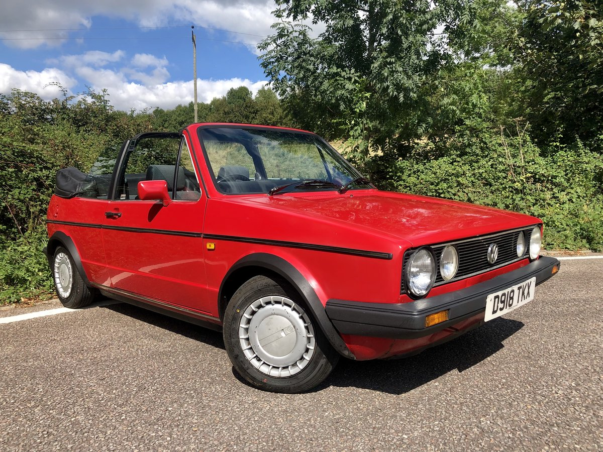 1987 VW Golf Clipper 1.8 Cabriolet with 12 Months MOT! For Sale (picture 1 of 6)