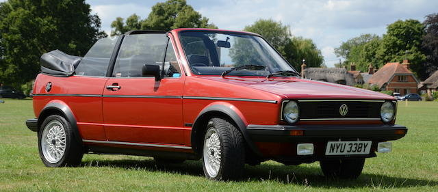 1982 VOLKSWAGEN GOLF GLI MK1 CABRIOLET  For Sale by Auction