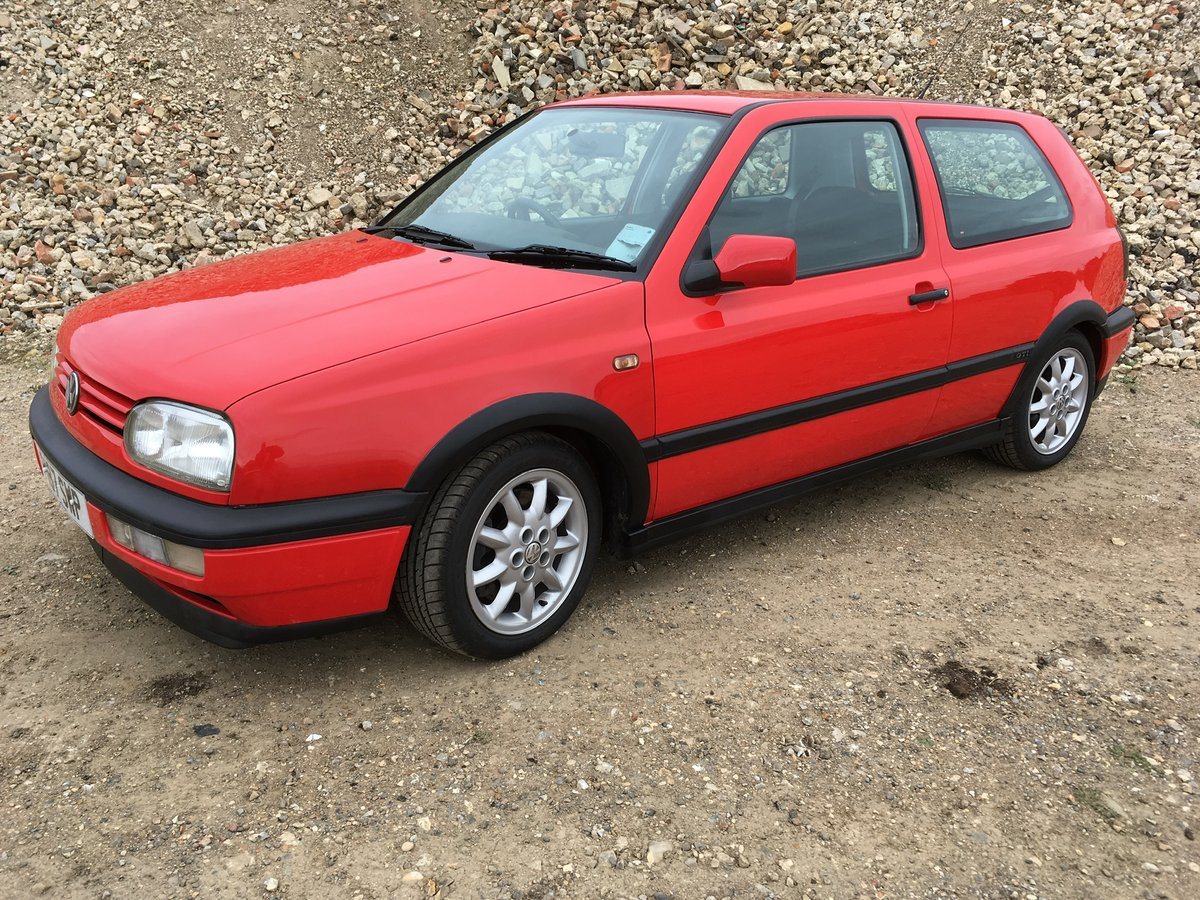 1996 Vw golf 16v GTI 3dr with 16 service stamps For Sale (picture 1 of 6)