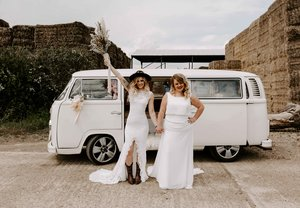 1972 Buttercup Bus VW Camper Beetle Wedding Cars Surrey