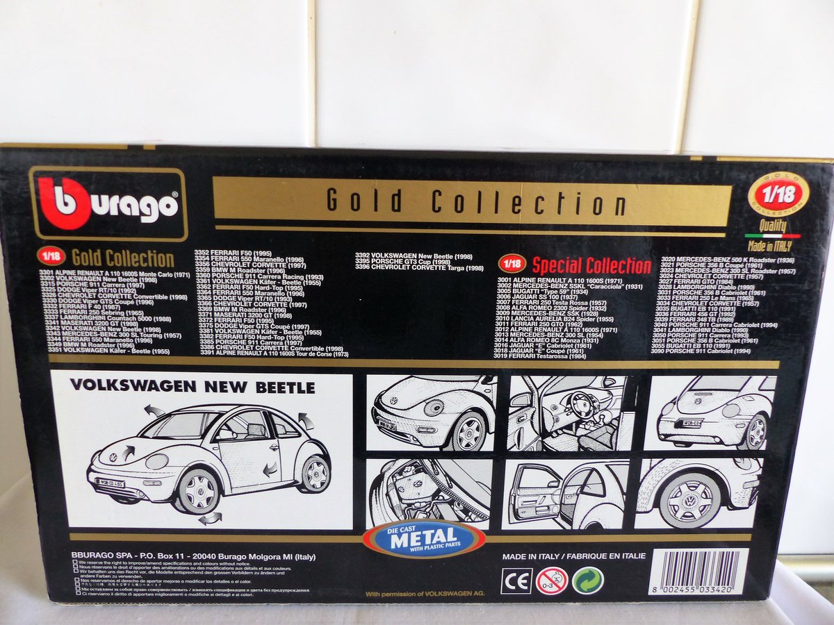 "1998 VW BEETLE ""BURAGO 1:18 SCALE COLLECTABLE"" For Sale (picture 4 of 6)"