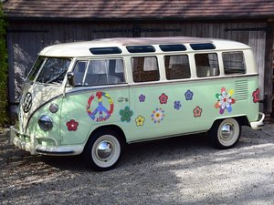 Stunning VW T1 Samba with Safari windscreen