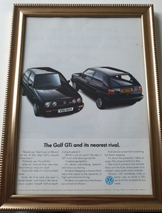 1990 Golf GTi Mark 2 advert Original  For Sale