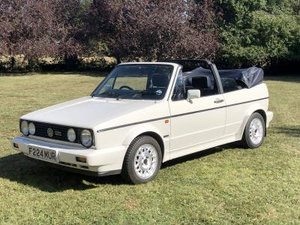 1989 Volkswagen Golf GTi Cabriolet For Sale by Auction