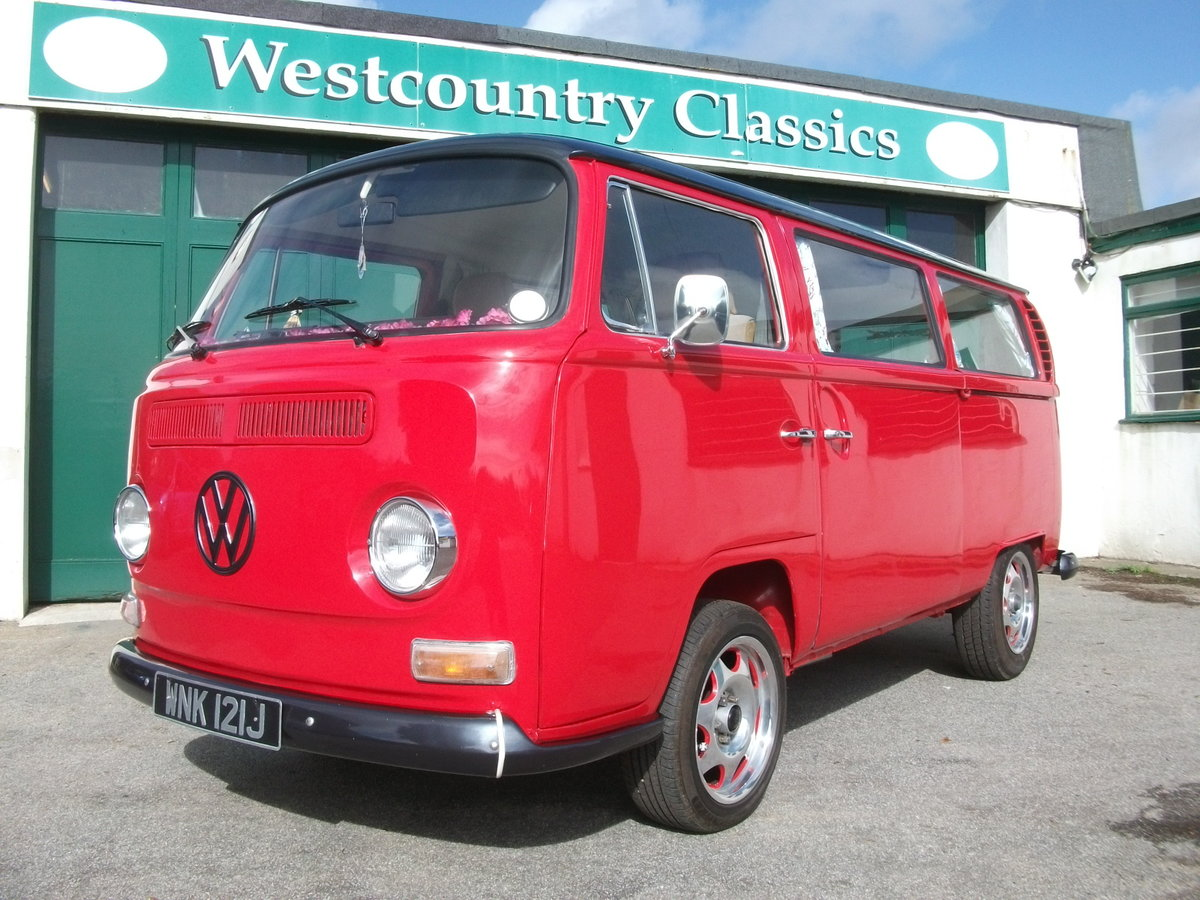 1971 VW Camper Bay window T2 1.9TDi Shiny red underneath!! SOLD (picture 1 of 6)
