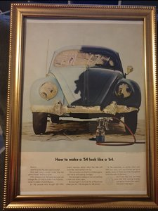 1963 VW Beetle Advert Original