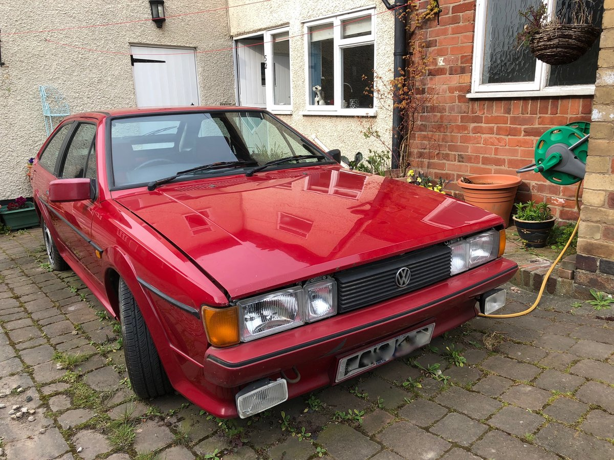 1989 VW Scirocco Scala Red on red interior and sunroof For Sale (picture 1 of 6)