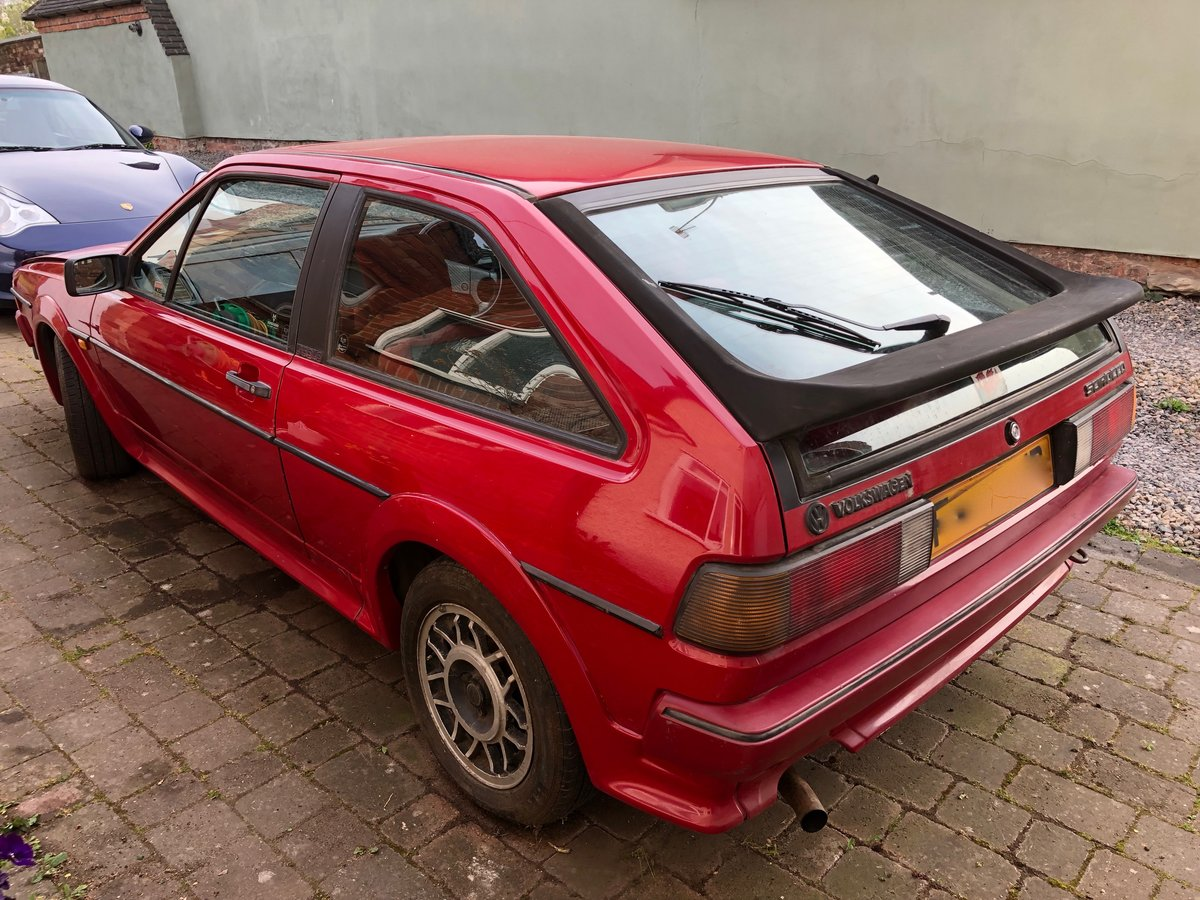 1989 VW Scirocco Scala Red on red interior and sunroof For Sale (picture 2 of 6)