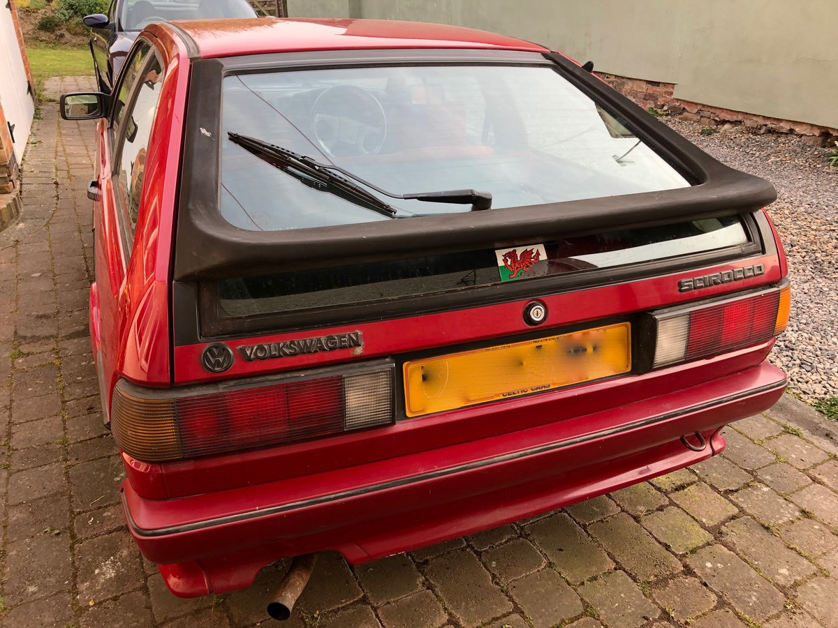 1989 VW Scirocco Scala Red on red interior and sunroof For Sale (picture 3 of 6)