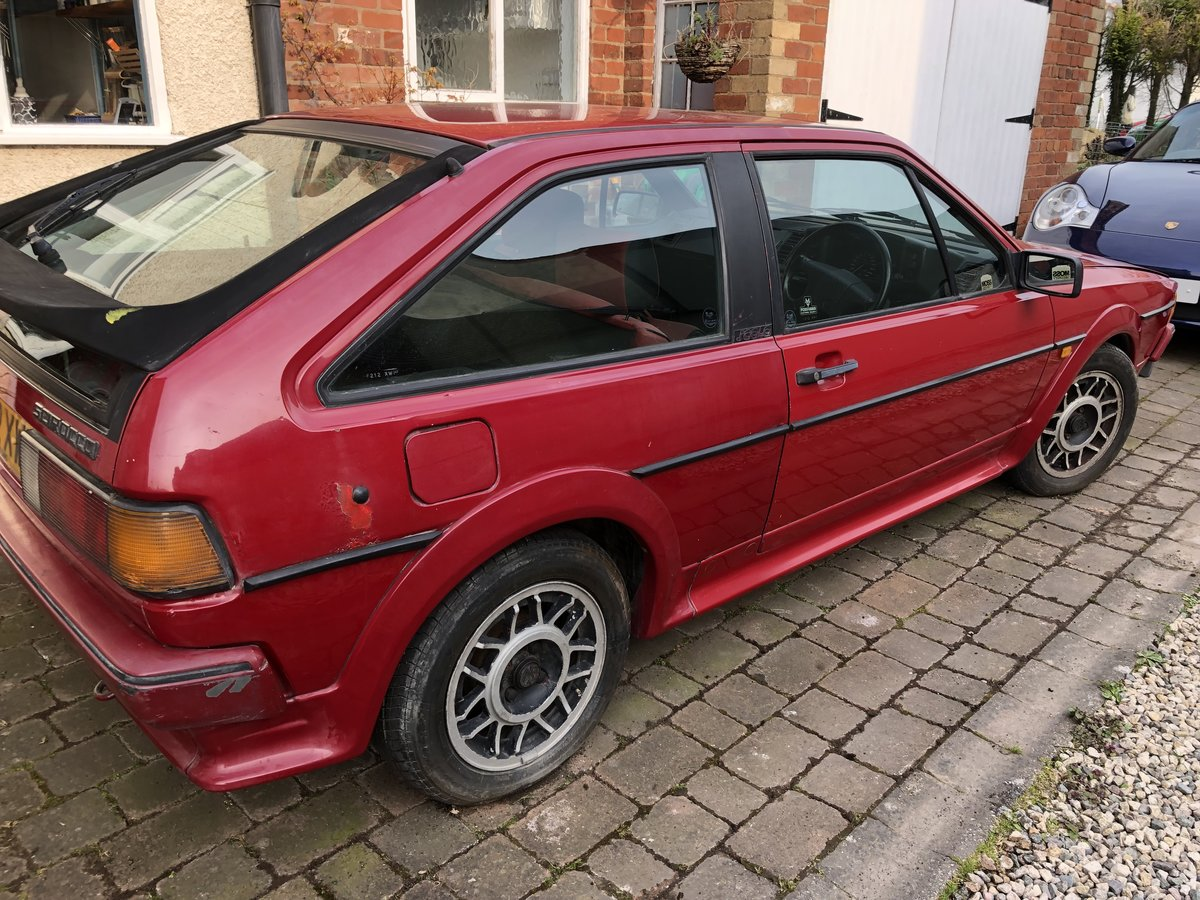 1989 VW Scirocco Scala Red on red interior and sunroof For Sale (picture 4 of 6)