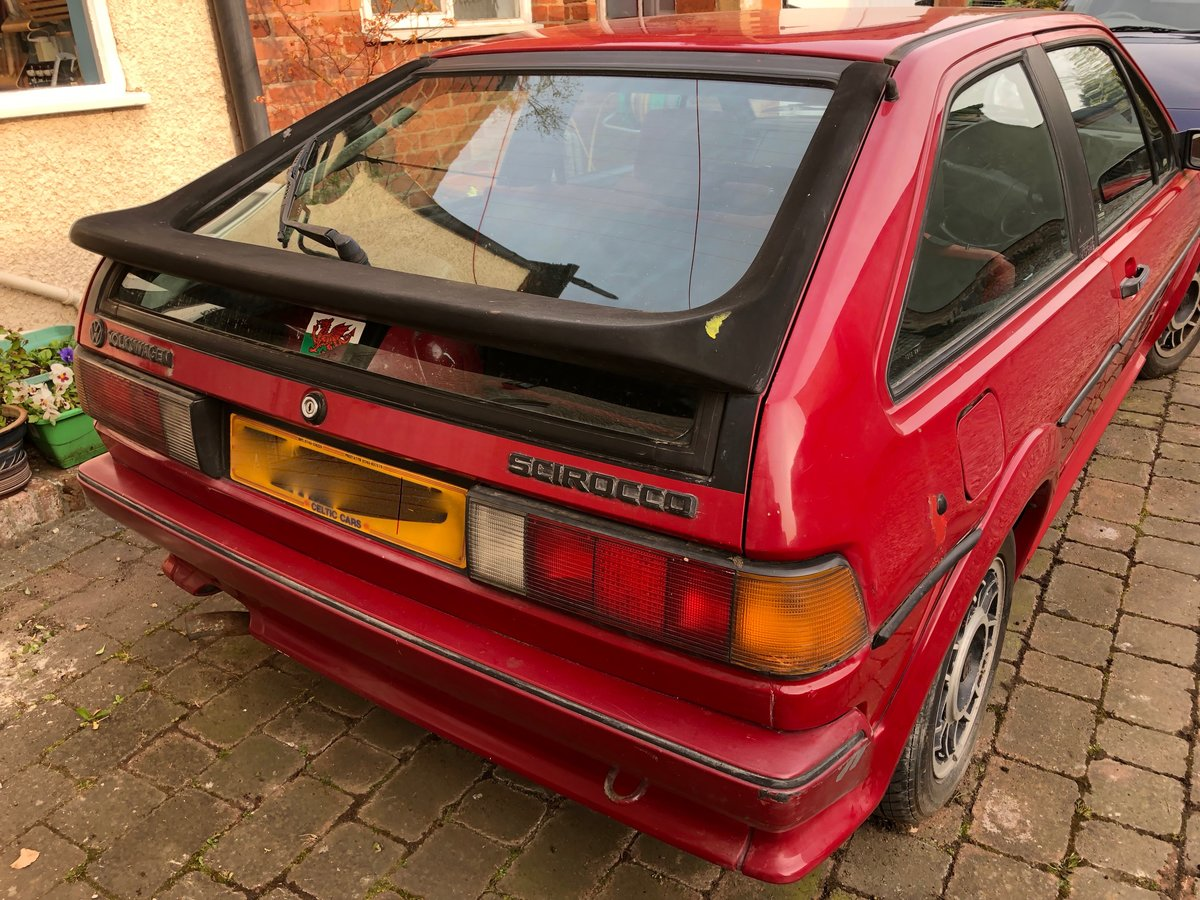 1989 VW Scirocco Scala Red on red interior and sunroof For Sale (picture 6 of 6)