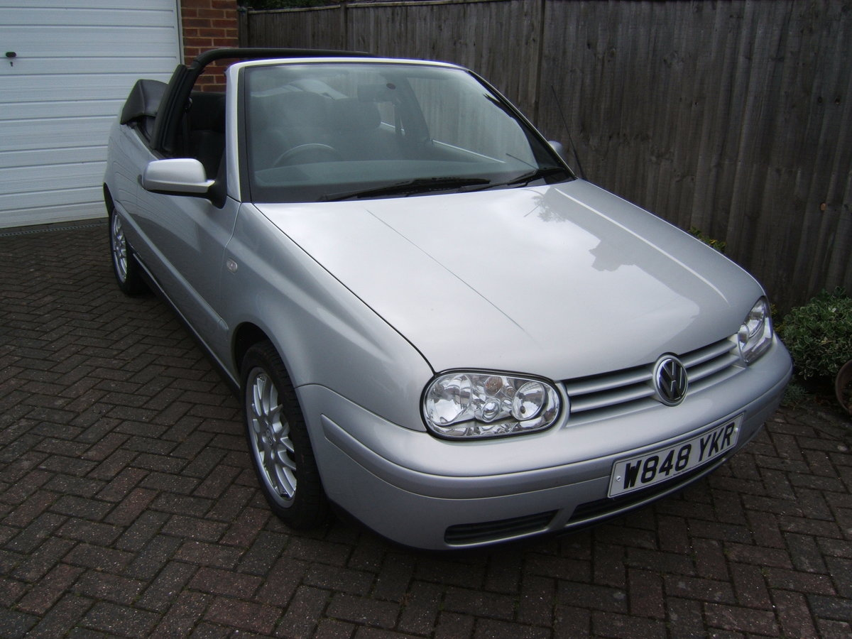 2000 Volkswagen Golf 2.0 Avantgarde Cabriolet Automatic For Sale (picture 1 of 6)
