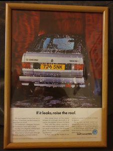 1990 Golf GTi Convertible Advert Original
