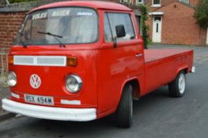 1974 VW Volkswagen T2 Pickup LHD 12m MOT UK Reg For Sale