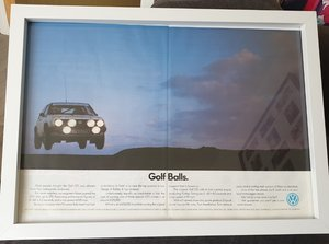1986 Original Golf GTi Framed Advert For Sale