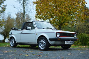 1988 Volkswagen Golf GTi Cabriolet MkI For Sale by Auction