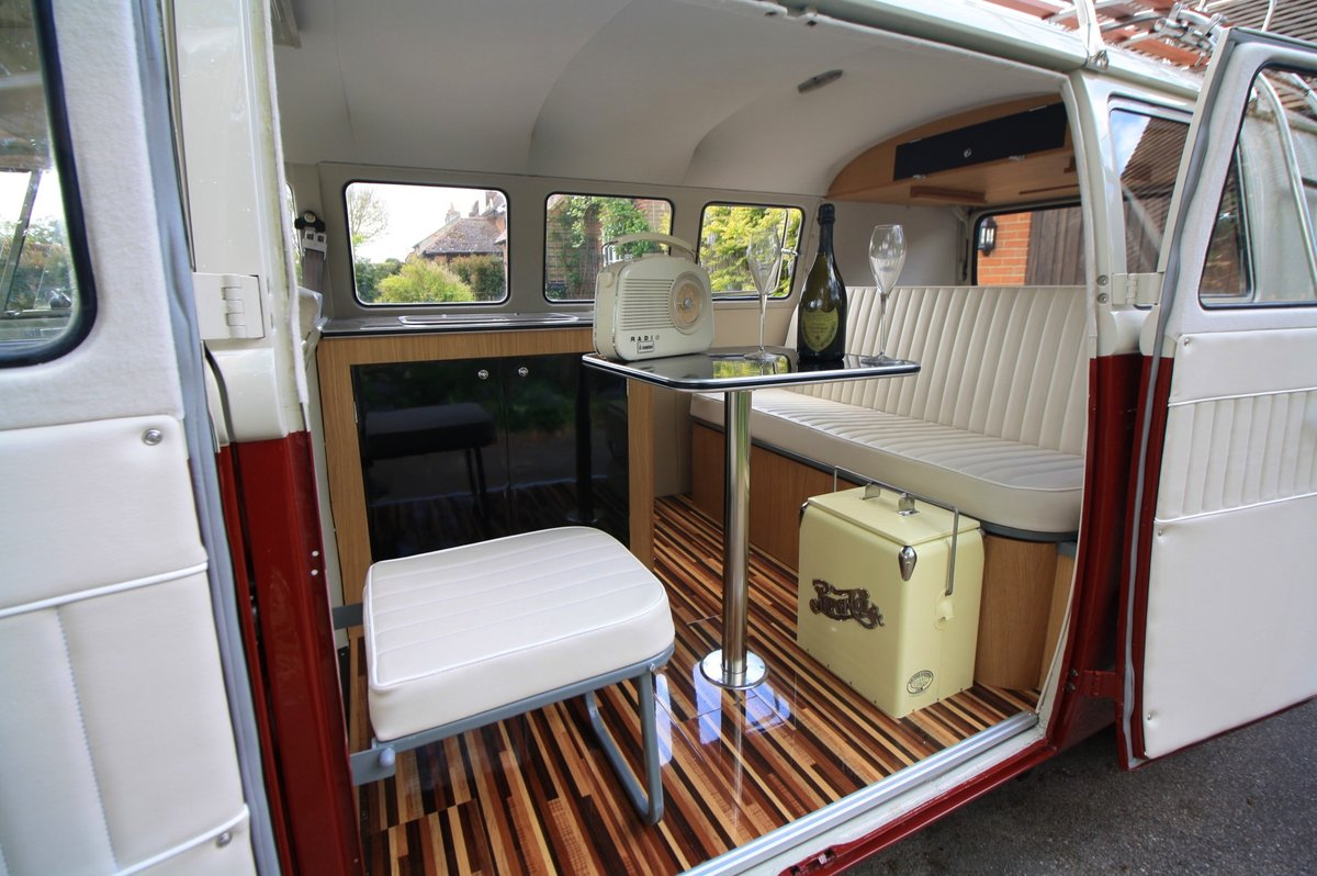 1965 VW Split Screen Camper Van. Choose Brand New Interior!  For Sale (picture 5 of 6)