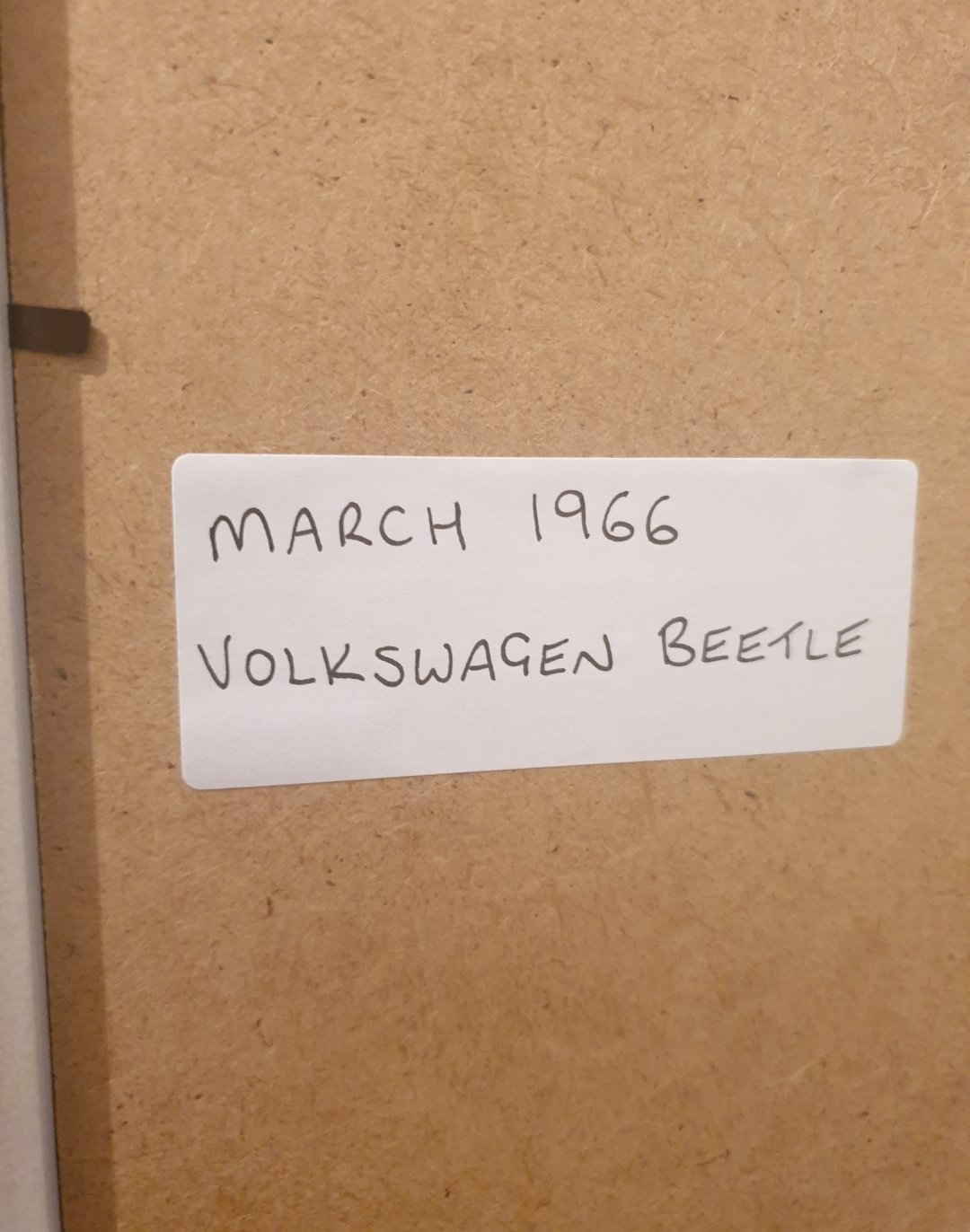 1966 VW Beetle Framed Advert Original  For Sale (picture 2 of 2)