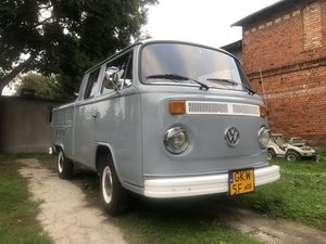 1973 Rare vw t2 double cab pick up rhd