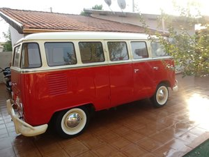 Picture of 1975 Reformed beautiful red and white T1 bus. SOLD