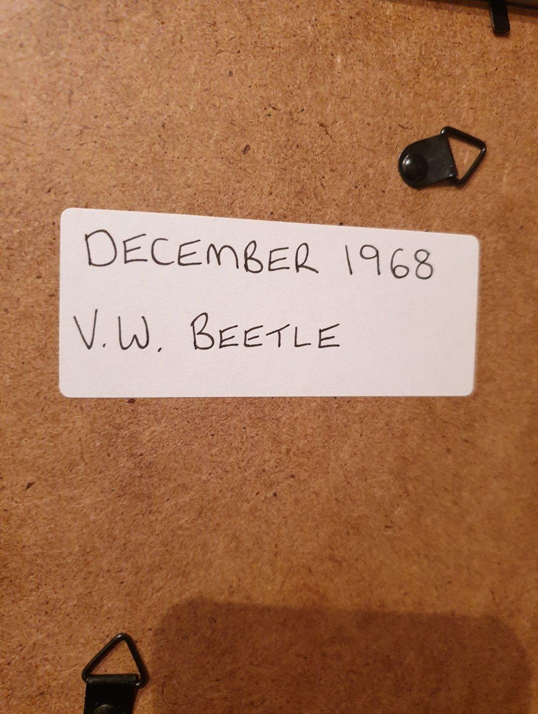 1968 Original VW Beetle Framed Advert For Sale (picture 2 of 2)