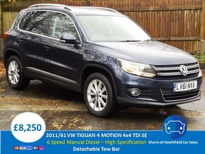 2011/61 Volkswagen Tiguan 2.0TDI BlueMotion Tech SE For Sale
