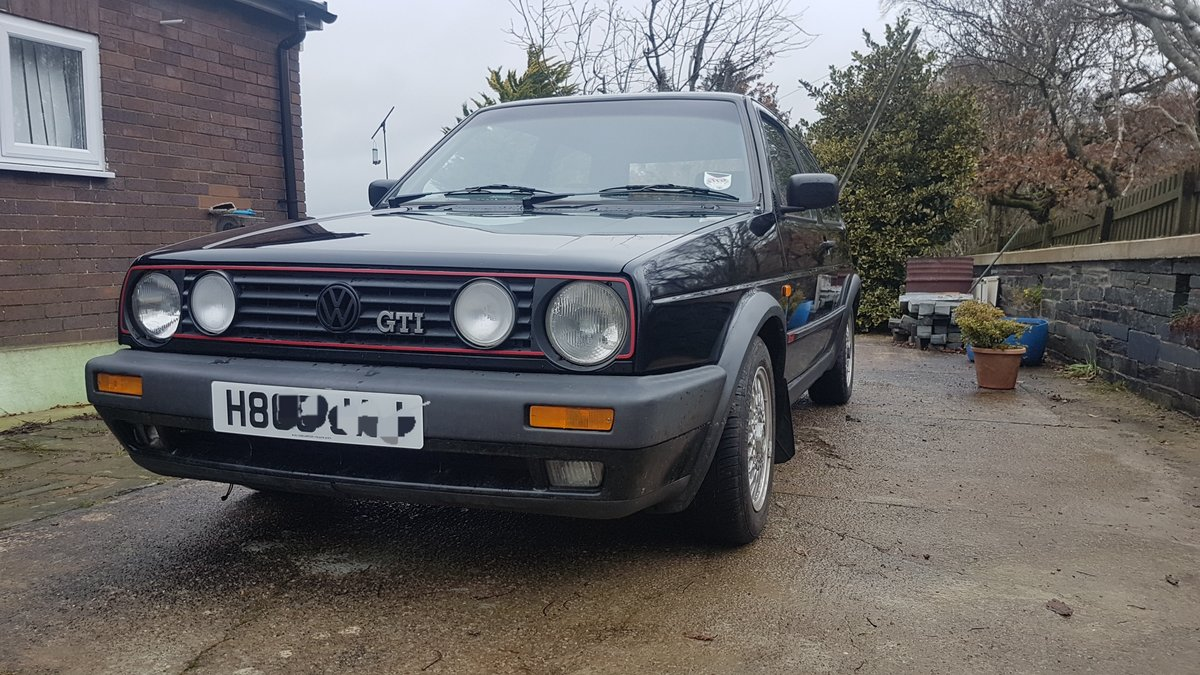 1990 Volkswagen Mk2 Golf GTI 8V Black 3door For Sale (picture 1 of 6)