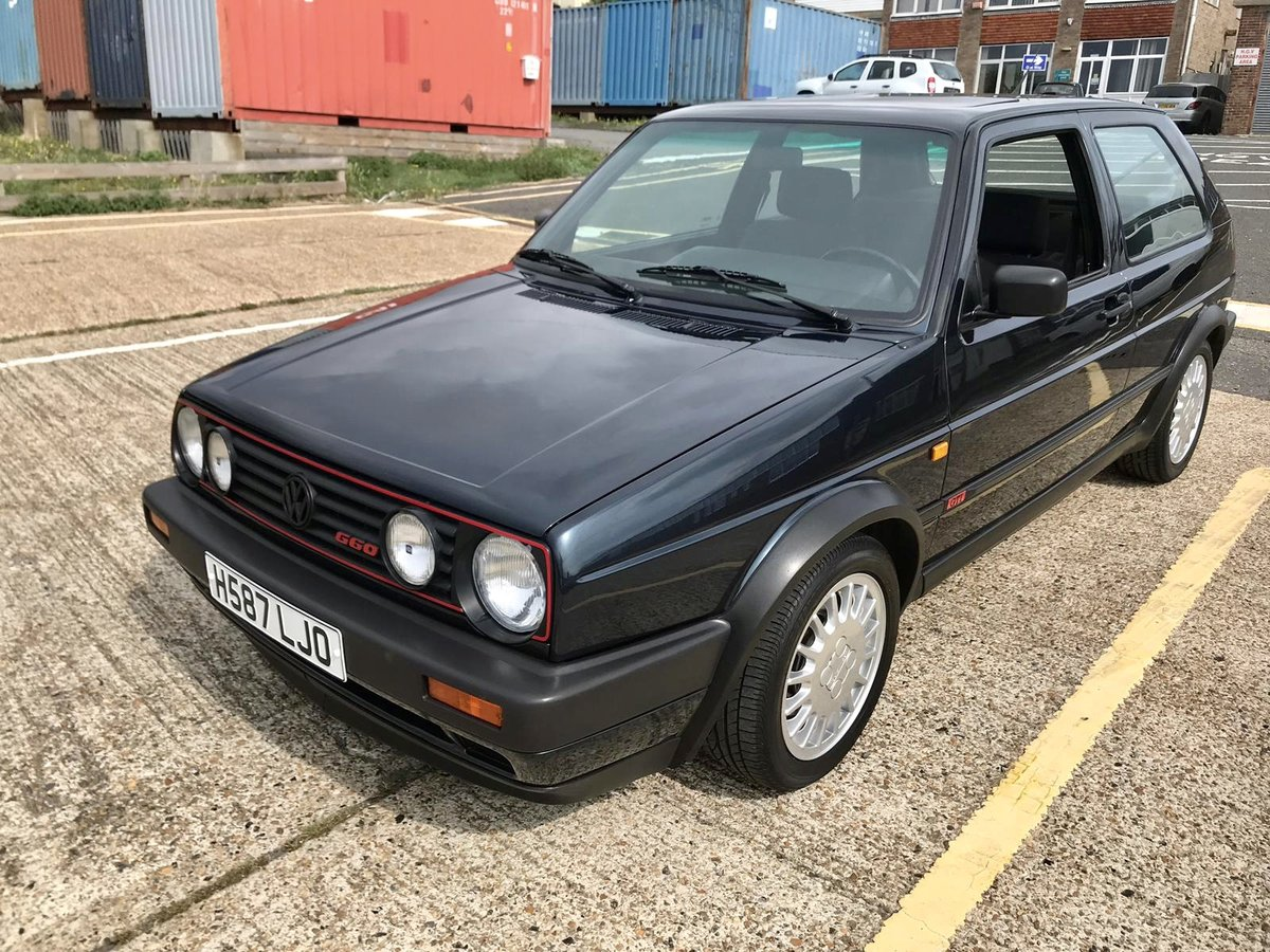 1990 Volkswagen MK2 Genuine G60 Blue 3dr For Sale (picture 1 of 6)