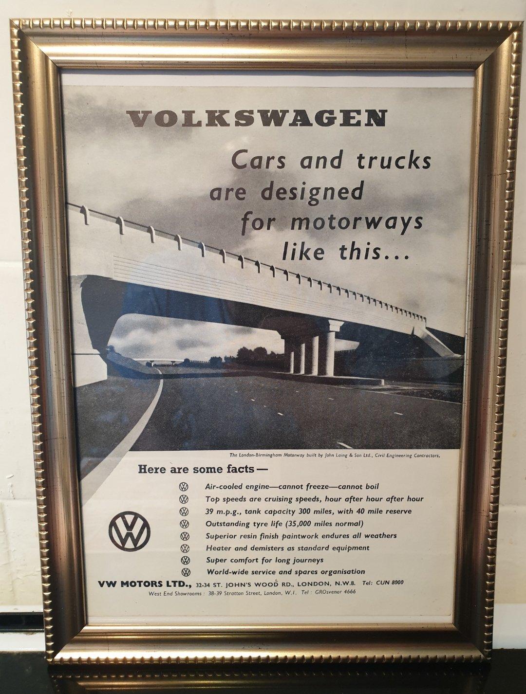1960 Volkswagen Beetle Advert Original  For Sale (picture 1 of 3)