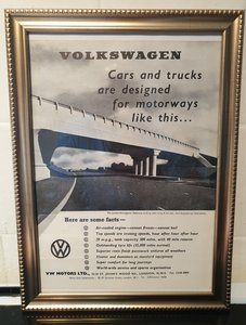 1960 Volkswagen Beetle Advert Original