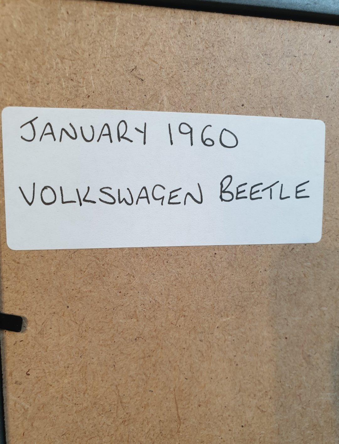 1960 Volkswagen Beetle Advert Original  For Sale (picture 2 of 3)