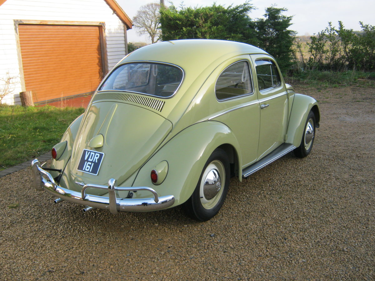 1959 VW BEETLE 1200. 1 OWNER FOR 58 YEARS. FULLY RESTORED.  For Sale (picture 3 of 6)