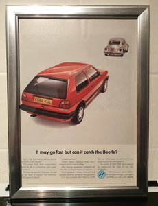 1988 Golf GTi Framed Advert Original