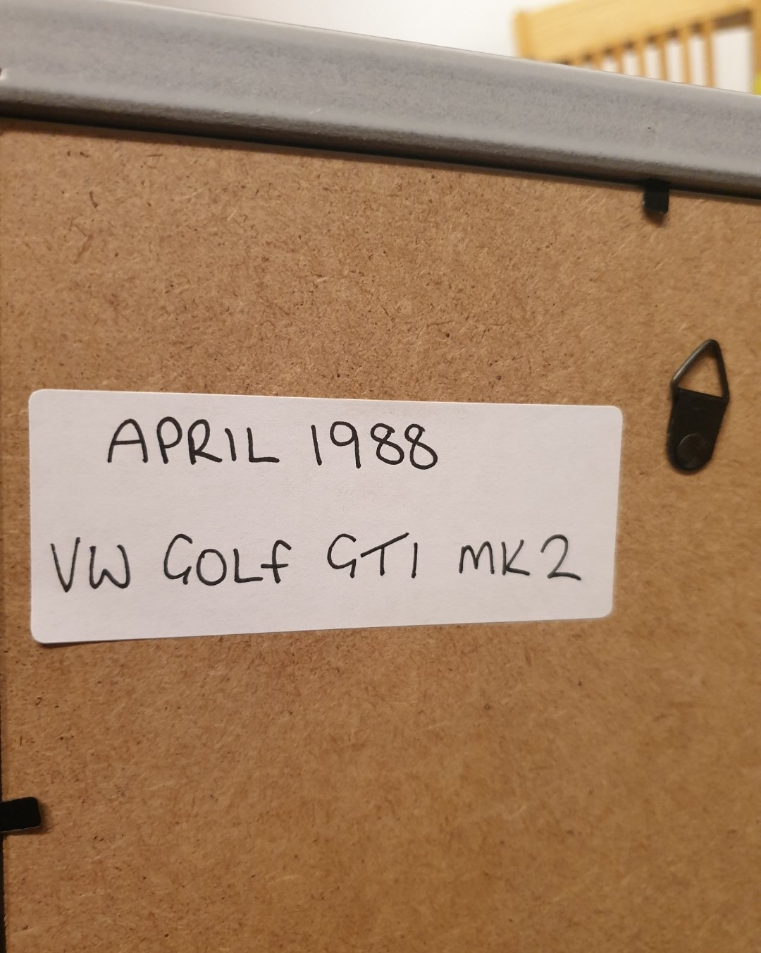 1988 Golf GTi Framed Advert Original  For Sale (picture 2 of 2)