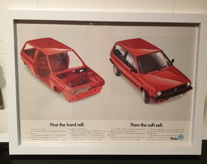 Original VW Polo Framed Advert
