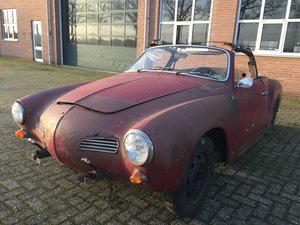 1967 VW Karmann Ghia convertible for restoration