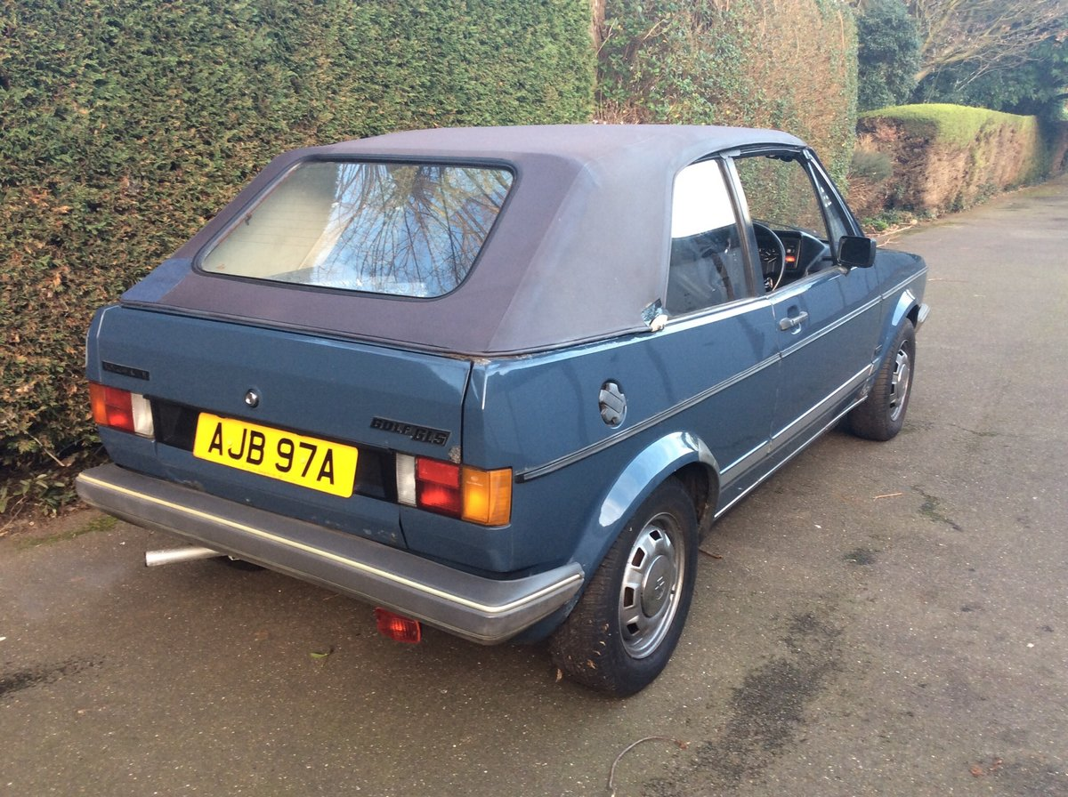 1982 Rare Golf GLS Karmann For Sale (picture 6 of 6)