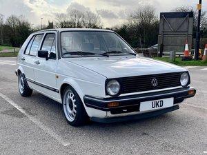 VW VOLKSWAGEN GOLF MK2 1.6 CL 4+E 5DR WHITE NON GTI 1987