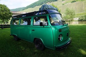 Green VW Camper with Refurbished Engine