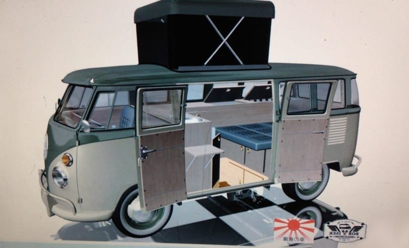 1973 VW Kombi T1 Pop Top Campervan For Sale (picture 1 of 3)