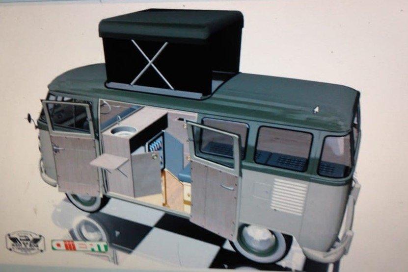 1973 VW Kombi T1 Pop Top Campervan For Sale (picture 2 of 3)