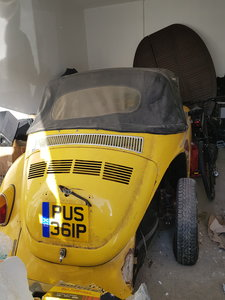 1972 VW Beetle Soft Top NOT Factory