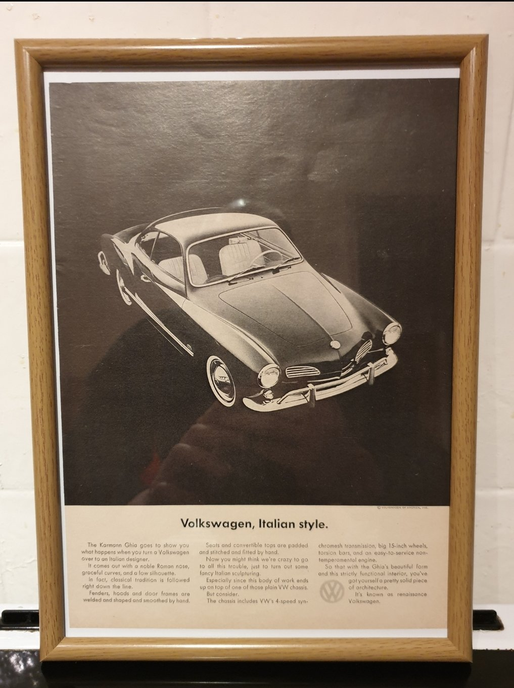 1964 VW Karmann Ghia Advert Original  SOLD (picture 1 of 2)