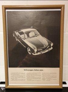 1964 VW Karmann Ghia Advert Original